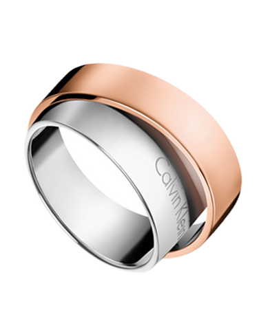 Calvin Klein Unite - Stainless Steel Bicolour Rose Gold Ring - KJ5ZPR200107 - 764504