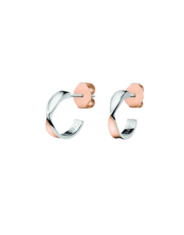 Calvin Klein Supple - Stainless Steel Bicolour Rose Gold Earrings - KJ7SPE200100 - 765237