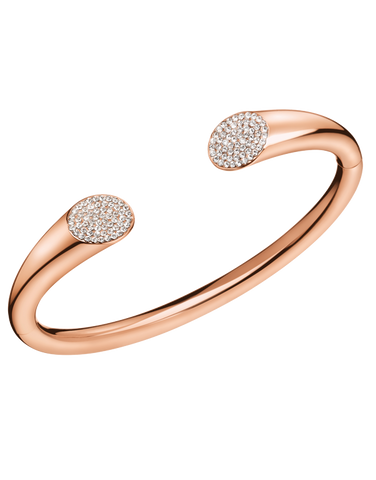 Calvin Klein Brilliant - Stainless Steel Rose Gold Bangle - KJ8YPF1401 - 766884