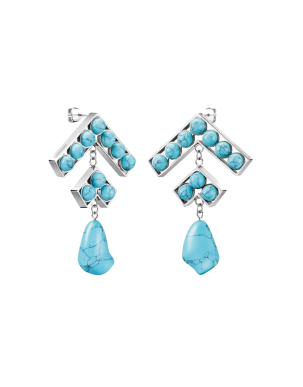 Calvin Klein Seductive - Drop Turquoise Resin Earrings - KJ9NLE041200 - 768995 - Salera's