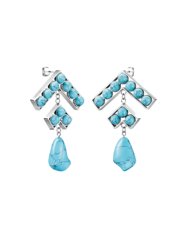 Calvin Klein Seductive - Drop Turquoise Resin Earrings - KJ9NLE041200 - 768995