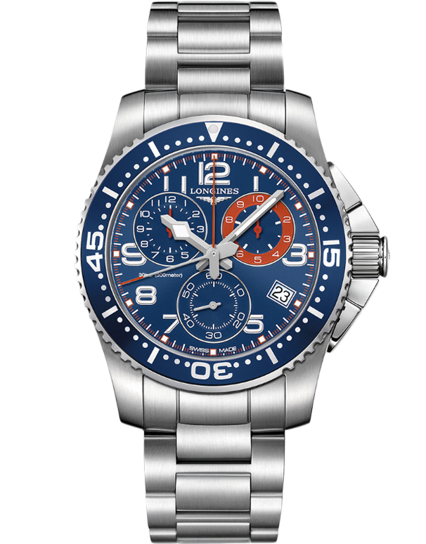 Longines HydroConquest - Quartz Chronograph - L3.690.4.03.6 - Salera's Melbourne, Victoria and Brisbane, Queensland Australia