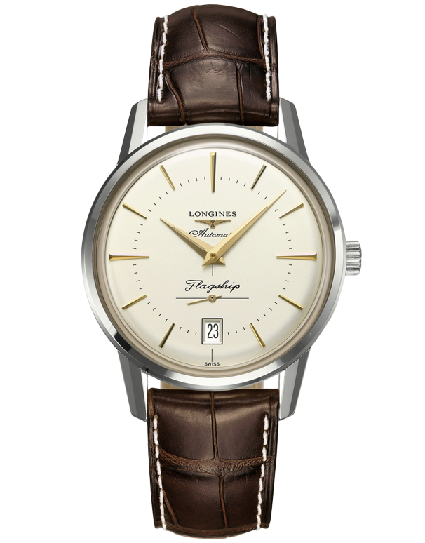 Longines Heritage - Flagship Heritage Men's Watch - L4.795.4.78.2 - Salera's Melbourne, Victoria and Brisbane, Queensland Australia