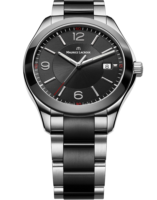 Maurice Lacroix Miros Date - Men's Black Dial Quartz Watch - MI1018SS002331 - Salera's Melbourne, Victoria and Brisbane, Queensland Australia