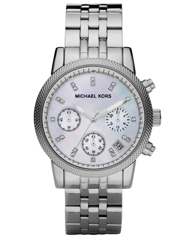 Michael Kors - Ladies Ritz Polished Steel Watch - MK5020 - Salera's Melbourne, Victoria and Brisbane, Queensland Australia