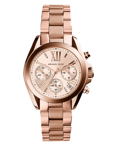 Michael Kors - Mini Bradshaw Rose Gold-Tone Chronograph Watch - MK5799 - 771083