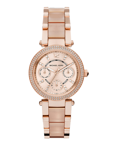 Michael Kors - Mini Parker Rose Gold-Tone Analogue Watch  - MK6110 - 764375