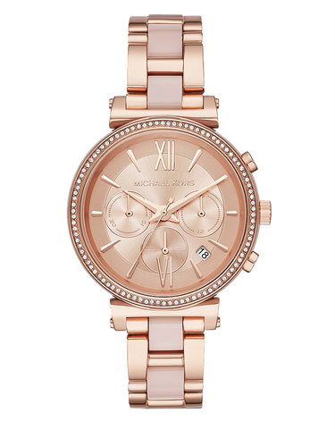 Michael Kors -  Sofie Rose Gold-Tone Chronograph Watch -  MK6560  -  769057