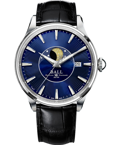 Ball Trainmaster Moon Phase Watch - NM3082D-LLFJ-BE