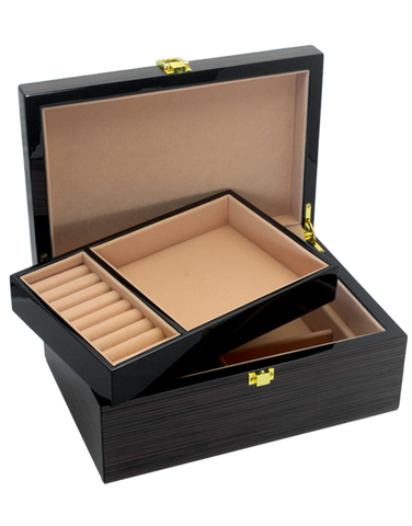 Jewellery Box - Piano Finish WIth Compartment - 760644