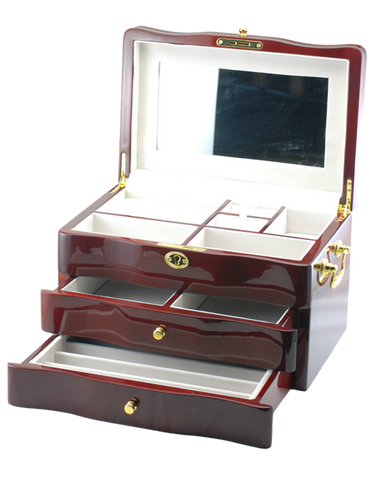 Jewellery Box - Piano Finish WIth 2 Drawers - 754312