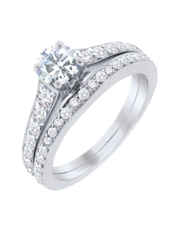 Bridal Set - White Gold Diamond Bridal Set Rings - 753723 - Salera's Melbourne, Victoria and Brisbane, Queensland Australia
