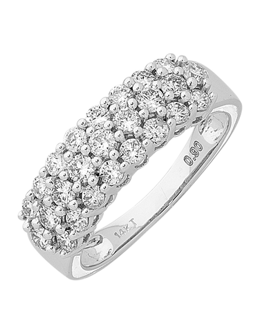 Diamond Ring - 14ct White Gold Diamond Ring - 754127