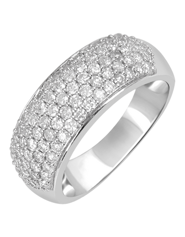 Diamond Ring - 14ct White Gold Diamond Ring - 754128