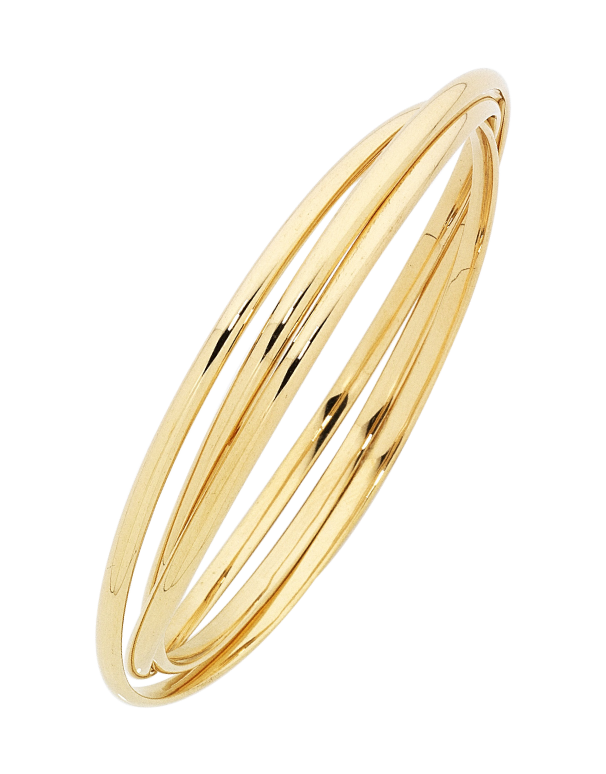 Gold Fusion Bangle - Gold Russian Bangle - 754404 - Salera's Melbourne, Victoria and Brisbane, Queensland Australia