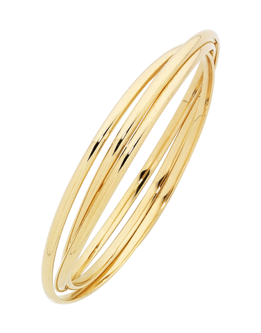 Gold Fusion Bangle - Gold Russian Bangle - 754404