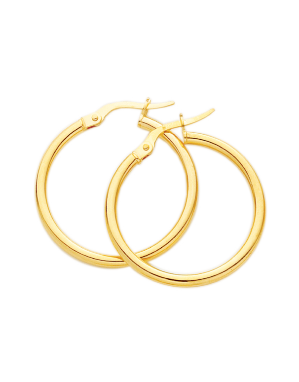 Gold Earrings - 9ct Yellow Gold Hoop Earrings - 171182 - Salera's Melbourne, Victoria and Brisbane, Queensland Australia