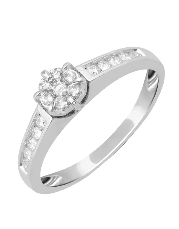 Diamond Ring - 14ct White Gold Diamond Ring - 755804 - Salera's Melbourne, Victoria and Brisbane, Queensland Australia