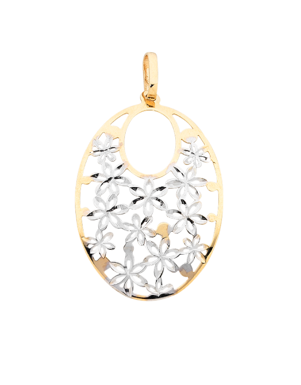 Gold Pendant - 9ct Two Tone Gold Pendant - 756166 - Salera's Melbourne, Victoria and Brisbane, Queensland Australia
