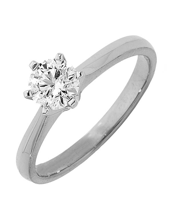Diamond Ring - 0.50ct Round Brilliant Solitaire Engagement Ring - 747511 - Salera's Melbourne, Victoria and Brisbane, Queensland Australia