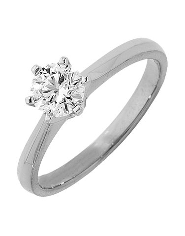 Diamond Ring - 0.50ct Round Brilliant Solitaire Engagement Ring - 761023
