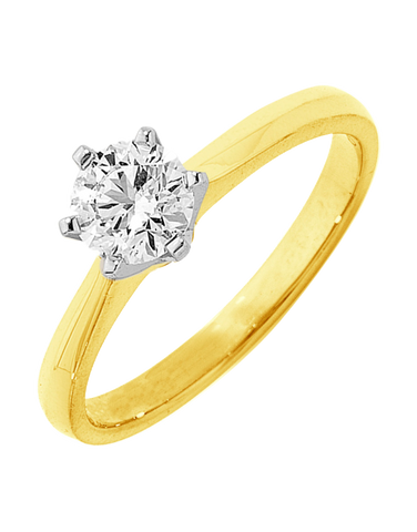 Diamond Ring - 0.40ct Round Brilliant Solitaire Engagement Ring - 750642
