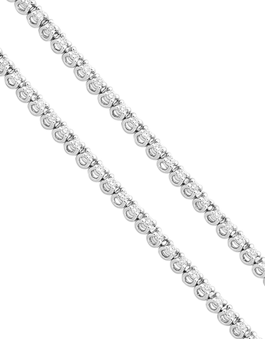 Diamond Bracelet - Diamond Set Tennis Bracelet - 756303