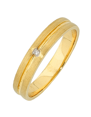 Men's Ring - Yellow Gold Diamond Set Ring - 748634