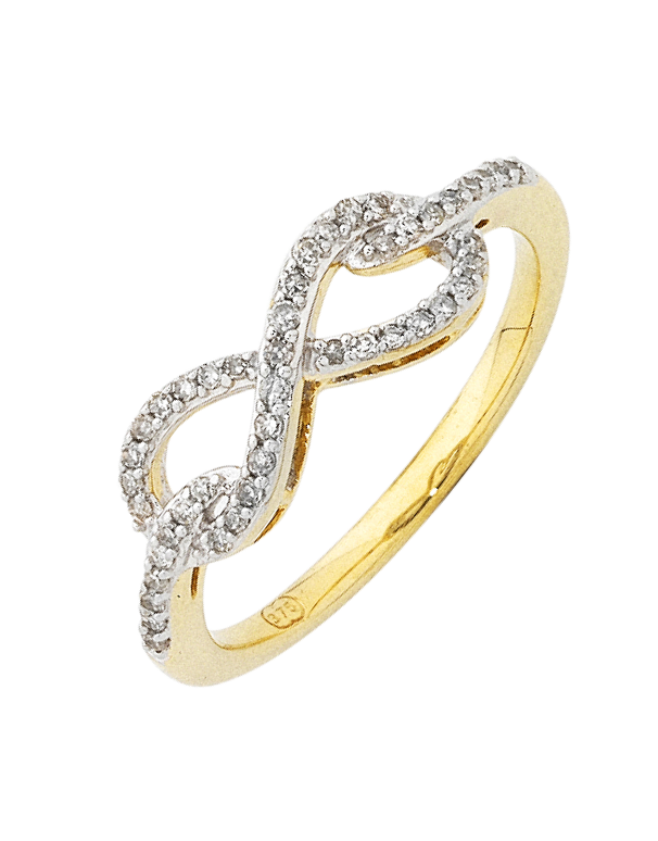 Diamond Ring - Yellow Gold Infinity Diamond Ring - 754106 - Salera's Melbourne, Victoria and Brisbane, Queensland Australia