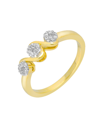 Diamond Ring - Yellow Gold Diamond Ring - 756338