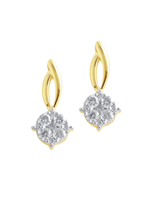 Diamond Earrings - Diamond Set Yellow Gold Earrings - 756469 - Salera's Melbourne, Victoria and Brisbane, Queensland Australia