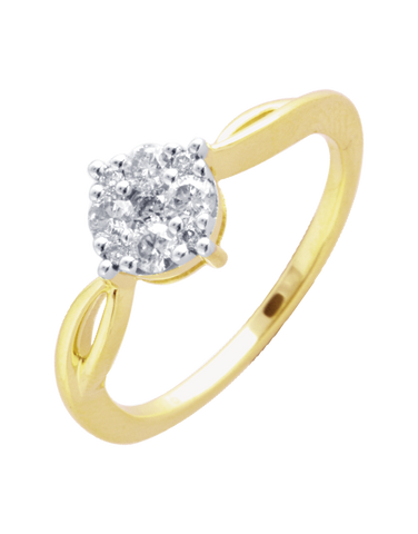 Diamond Ring - Yellow Gold Diamond Ring - 756470