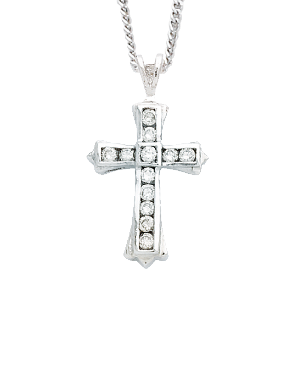 Diamond Cross - 9ct White Gold Diamond Cross - 431041 - Salera's Melbourne, Victoria and Brisbane, Queensland Australia
