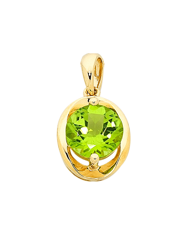 Peridot Pendant - Yellow Gold Peridot Pendant - 756501 - Salera's Melbourne, Victoria and Brisbane, Queensland Australia