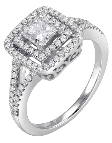 Rand - White Gold Princess Cut Diamond Engagement Ring - R31243W