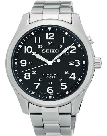 Seiko - Kinetic Black Dial Watch - SKA721P