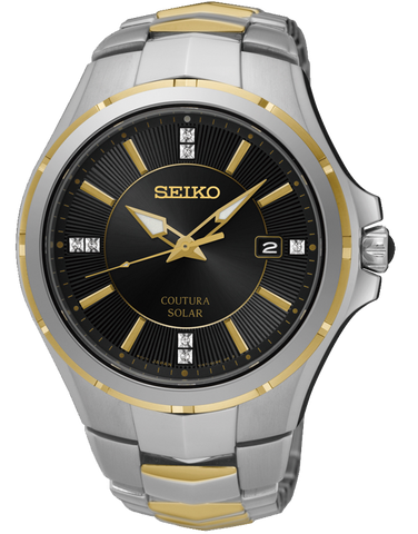 Seiko Coutura Solar Diamond Set Watch - SNE444P-9