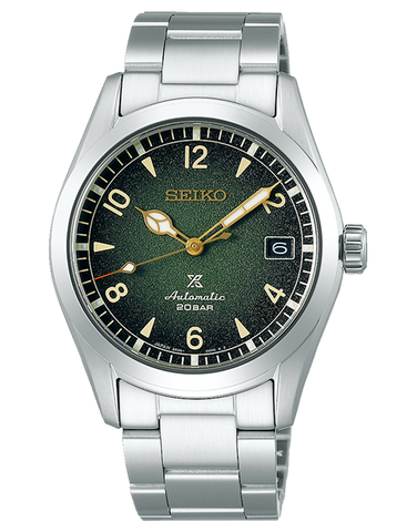 Seiko - GENTS PROSPEX ALPINIST GREEN DIAL METAL BAND  - SPB155J -