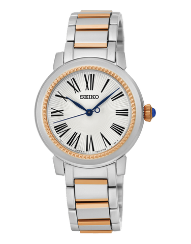 Seiko - Quartz Two Tone Roman Dial Watch - SRZ448P