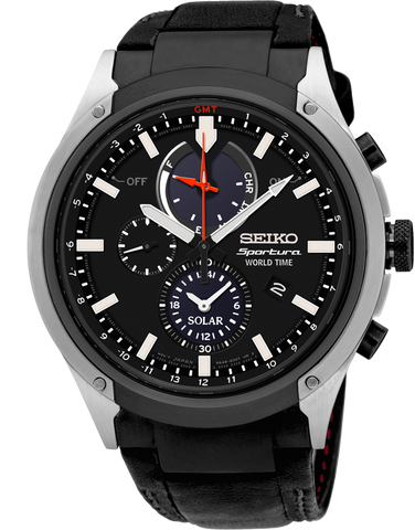 Seiko - Sportura World Time Solar Chronograph - SSC483P
