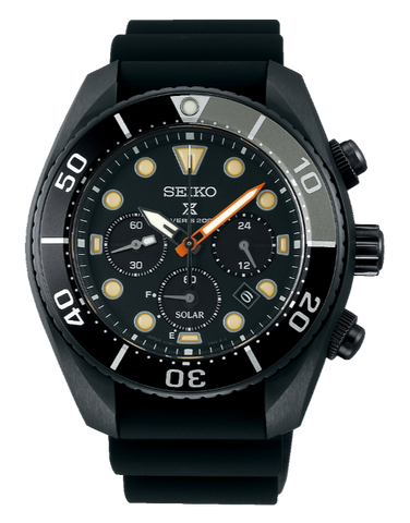 Seiko - Prospex Limited Edition Black Series Chronograph Divers Watch - SSC761J - 781437