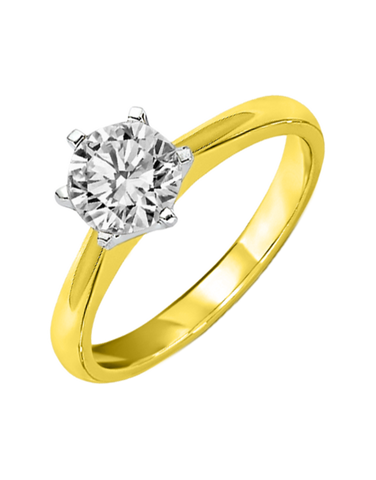 Diamond Ring - 0.70ct Round Brilliant Solitaire Engagement Ring