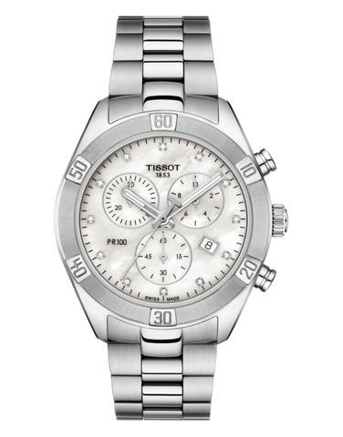 Tissot PR 100 Sport Chic Chronograph Watch - T101.917.11.116.00 - 771118