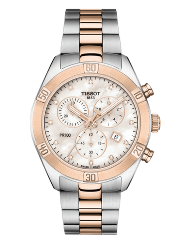Tissot PR 100 Sport Chic Chronograph Watch - T101.917.22.116.00 - 771119