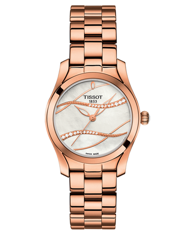Tissot T-Lady T-Wave Quartz Watch - T112.210.33.111.00 - 764515