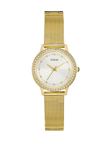 Guess - Ladies Chelsea Gold Mesh Watch - W0647L7 - 761717