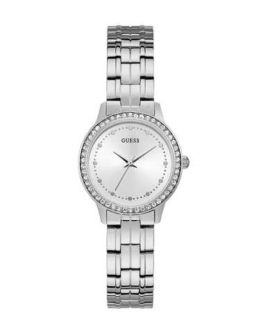 Guess - Guess Ladies Chelsea Silver Watch - W1209L1
