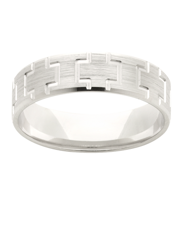 Wedding Band - Patterened Wedding Band - 781251