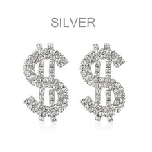 Load image into Gallery viewer, LOVE & FUNDS>>>RHINESTONE EARINGS