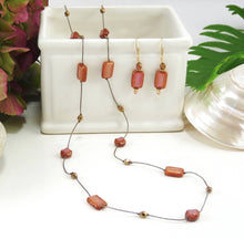 "Load image into Gallery viewer, Rectangle 36"" Long Necklace"